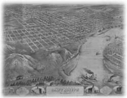 Birds Eye View of St. Joseph 1868-2